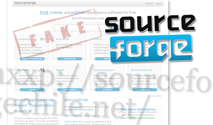 More Malware Showing Up as Fake SourceForge Web Sites