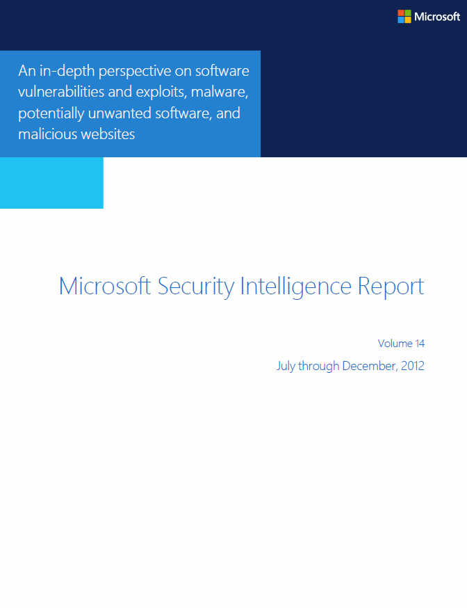Microsoft Security Intelligence Report 2013