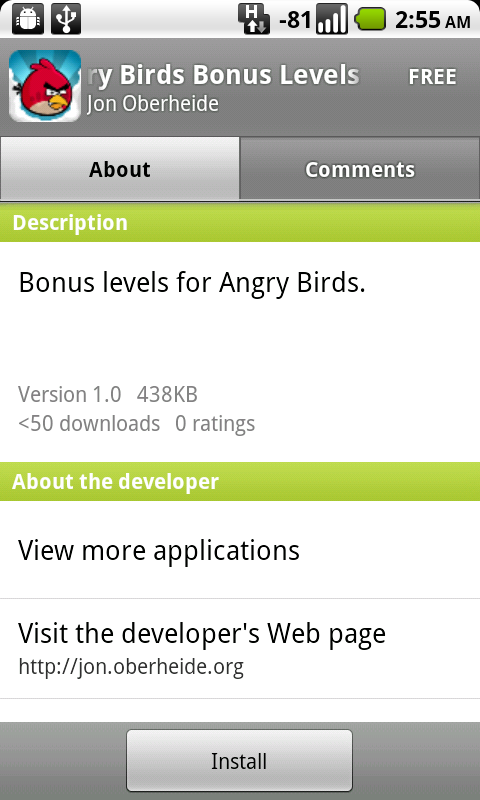 Image of the Day: Fake Angry Birds Android App | Threatpost