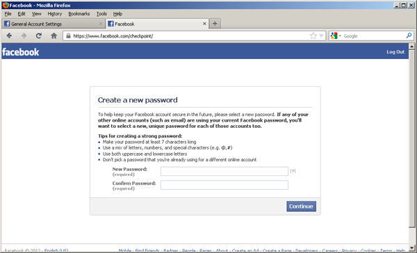 HOW TO MAKE NEW FACEBOOK PASSWORD