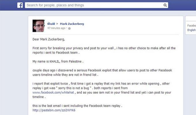 Hacker Posts Facebook Bug Details on Zuckerberg's Wall | Threatpost