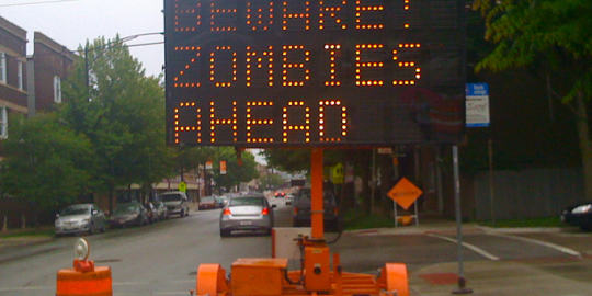hacked road signs