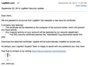 LogMeIn Phishing