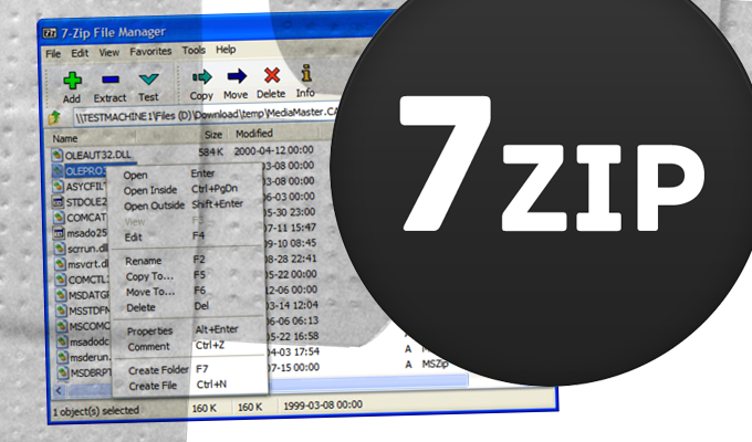 7zip warning there are some data