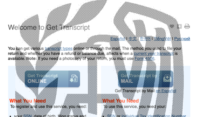 Irs Reinstates Get Transcript Service Following Hack The First