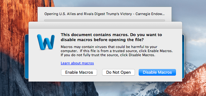 Mac malware macros