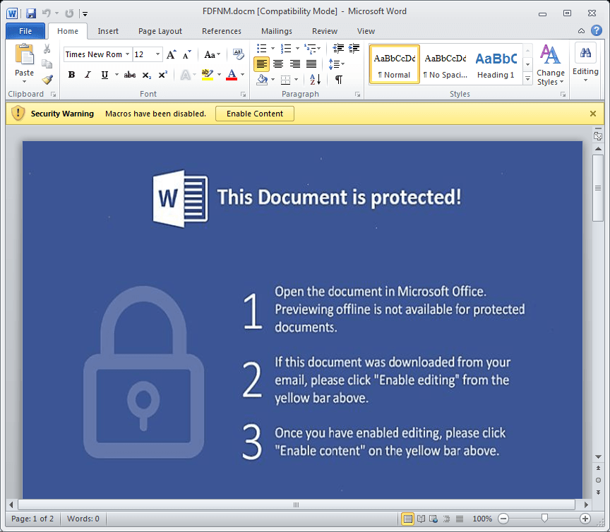New Jaff Ransomware Part Of Active Necurs Spam Blitz | Threatpost