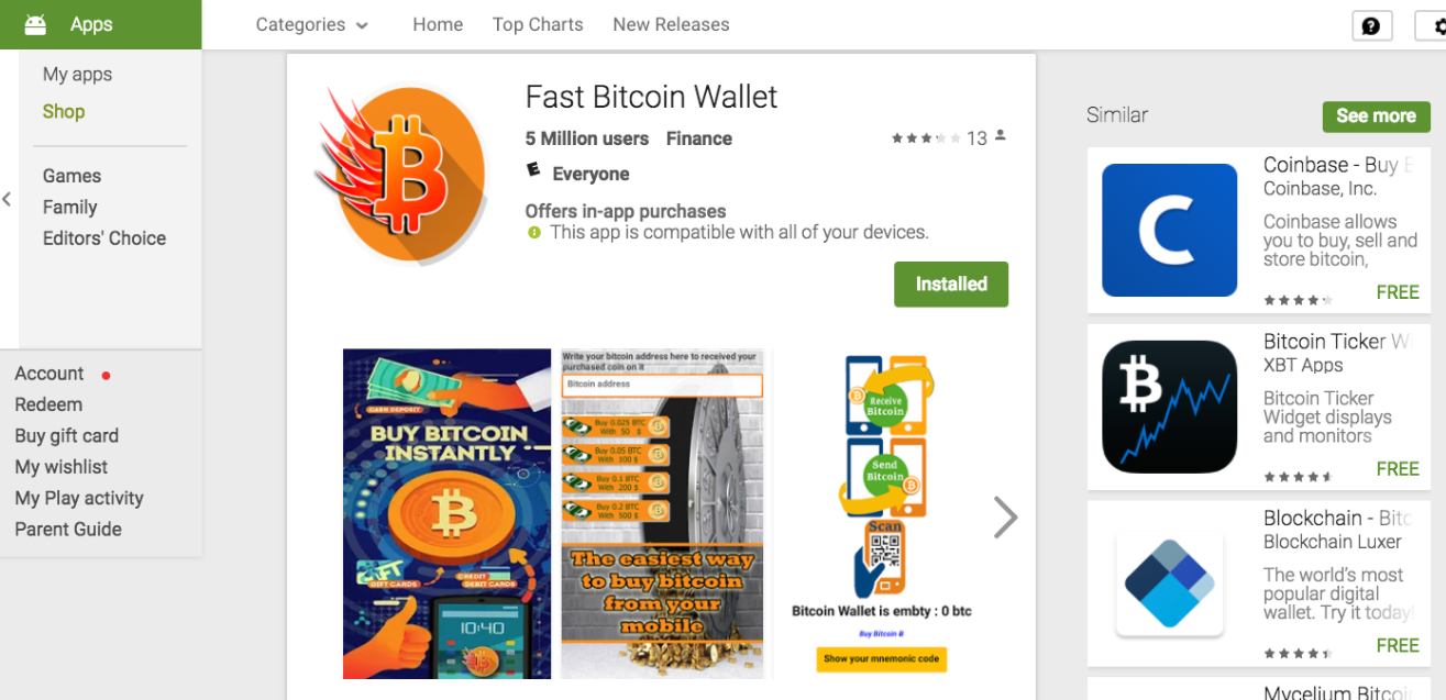 Google Play Boots 3 Fake Bitcoin Wallet Apps | Threatpost