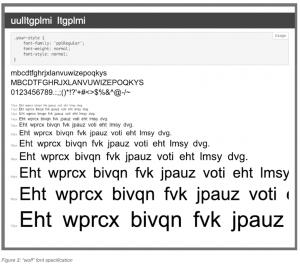 custom web fonts phishing