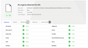 SpeakUp malware detections