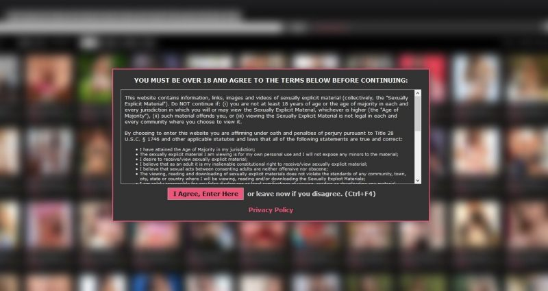 porn fake site phishing