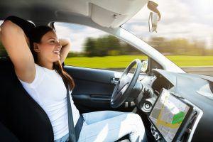 Self Driving Vehicle Woman