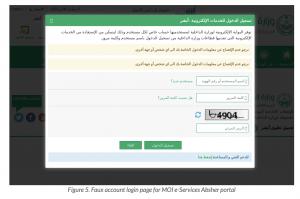 phishing saudi arabia landing page