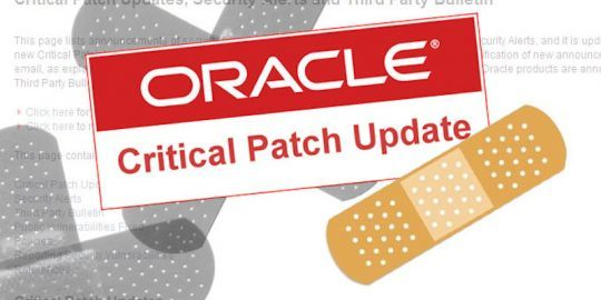 oracle critical security update