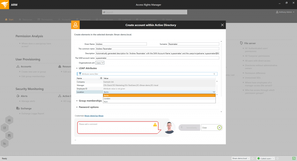 SolarWinds Access Rights Manger