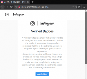 instagram phishing scam