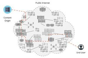 interconnected networks in which outages can originate