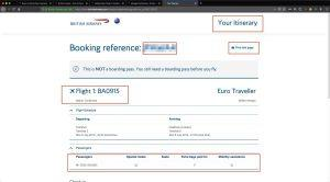 British airways ticketing
