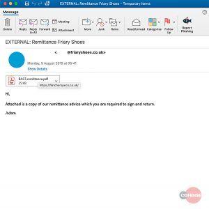 PDF phishing campaign