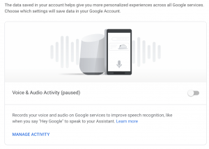google home privacy policy