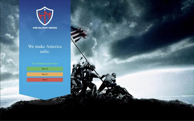 fake us veteran hiring website malware