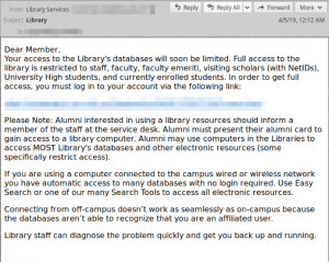 phishing email silent librarian