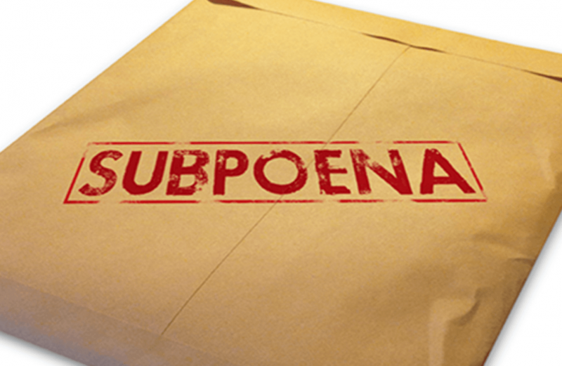 subpoena-themed phish