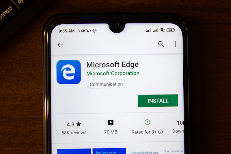 microsoft least private browser