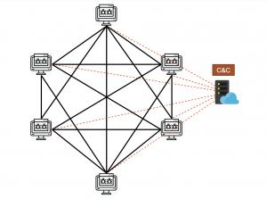 DDG botnet P2P network