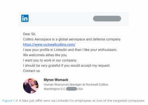 linkedin spear phishing campaign