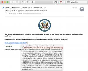 voter registration phishing attack