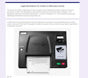, Trump Site Alleging AZ Election Fraud Exposes Voter Data