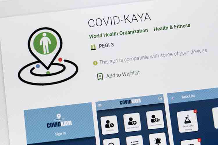 COVID-KAYA app available in the Google Play area