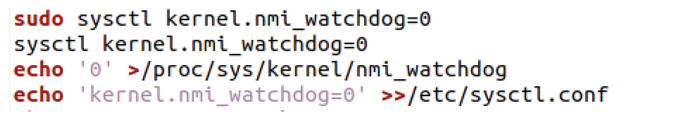 Figure 3- Script Disabling kernel watchdog