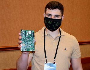 CyberArk's Omer Tsarfati shows Threatpost the NXP board
